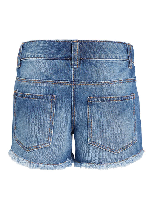 Next Denim Frayed Hem Shorts (3-16yrs)