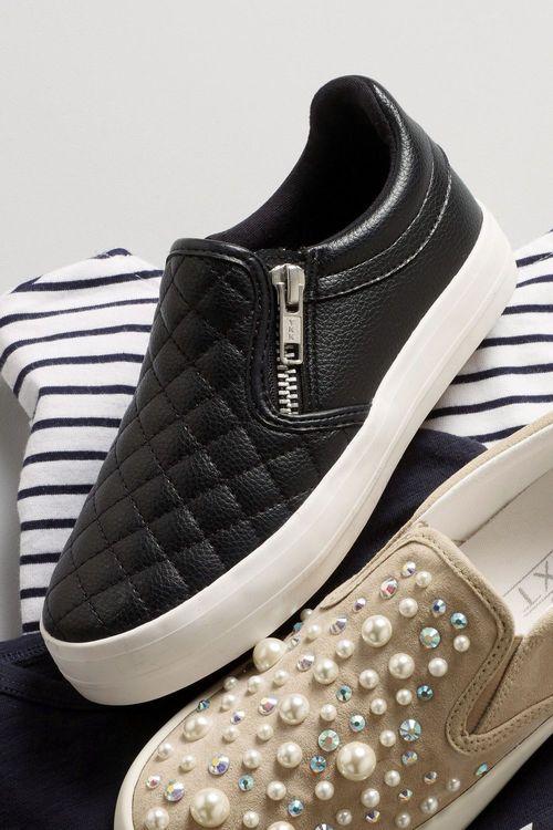 Next Quilted Skater Shoes (Older Girls)