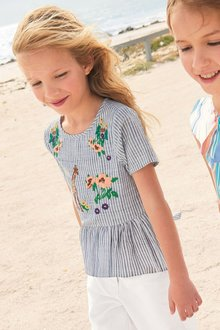 Next Embroidered Stripe Blouse (3-16yrs)