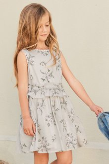 Next Printed Floral Dress (3-16yrs)