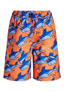 Next Shark Print Swim Shorts (3-16yrs)