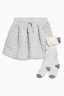 Next Quilted Skirt And Tights Set (3mths-6yrs)