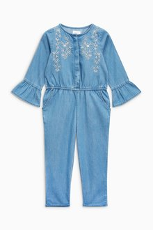 Next Chambray Embellished Playsuit (3mths-6yrs)