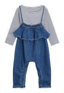Next Ruffle Playsuit And T-Shirt Set (3mths-6yrs)