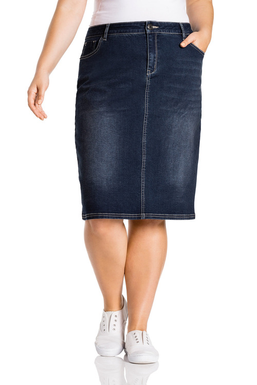 Plus Size - Sara Denim Skirt