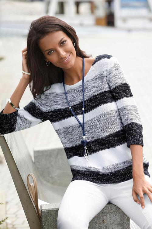 Capture European Stripe Pullover