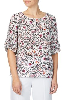 Table Eight Sahara Print Top