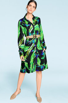 Heine Tropical Print Shirt Dress