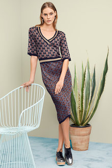 Heine Patterned Knit Dress - 200012