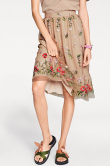 Heine Floral Embroidery Skirt