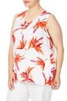 Plus Size - Beme Sleeveless Paradise Print Top