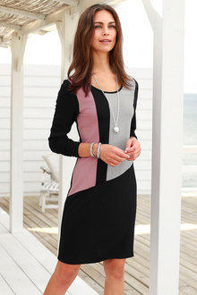 Urban Colour Block Dress - 200049
