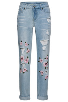 Urban Embroidered Boyfriend Jean