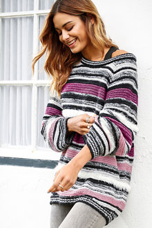 Urban Fluffy Stripe Sweater