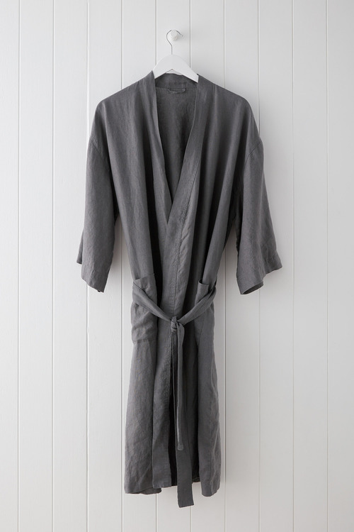 Hampton Linen Bathrobe