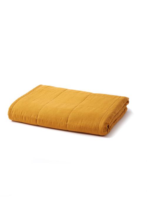 Hampton Quilted Linen Throw