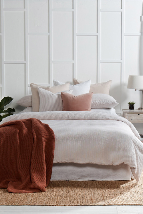 Hampton Stripe Linen Duvet Cover Set