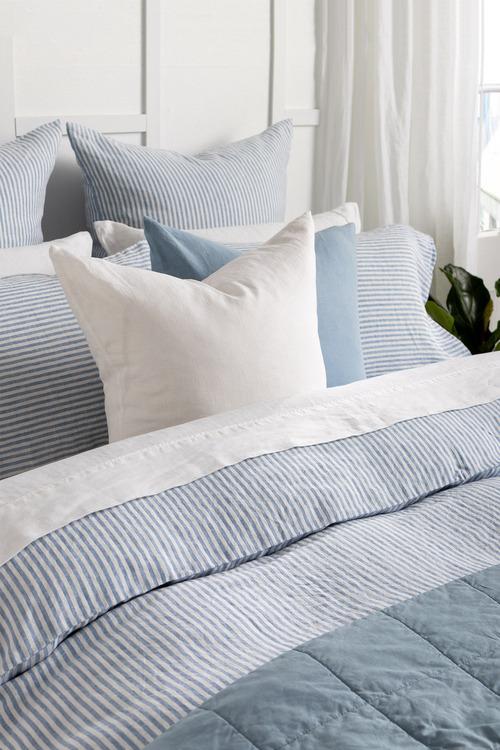 Hampton Stripe Linen Duvet Cover Set