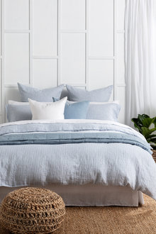 Hampton Stripe Linen Duvet Cover Set - 200553