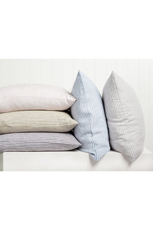 Hampton Stripe Linen Euro Pillowcase Pair - 200557