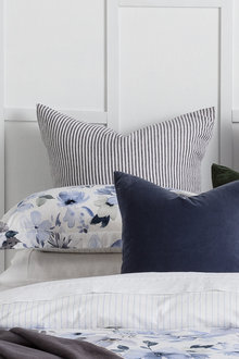 Hampton Stripe Linen Euro Pillowcase Pair