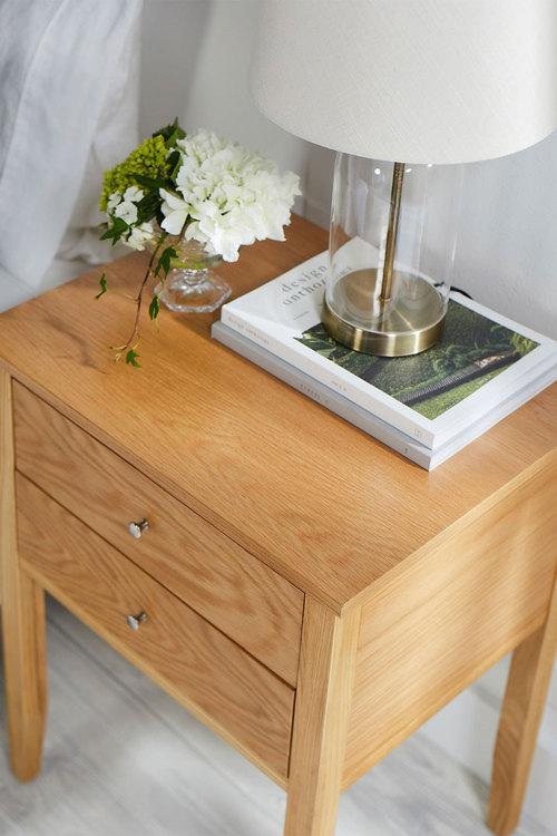 Hudson Two Drawer Bedside Table