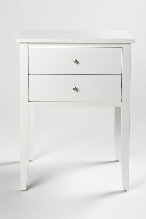 Hudson Two Drawer Bedside Table