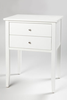 Hudson Two Drawer Bedside Table - 200563
