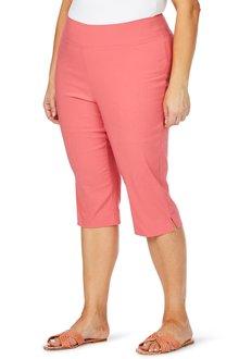 Plus Size - Beme Coloured Capri Pant