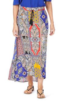 Rockmans Batik Patchwork Print Maxi Skirt