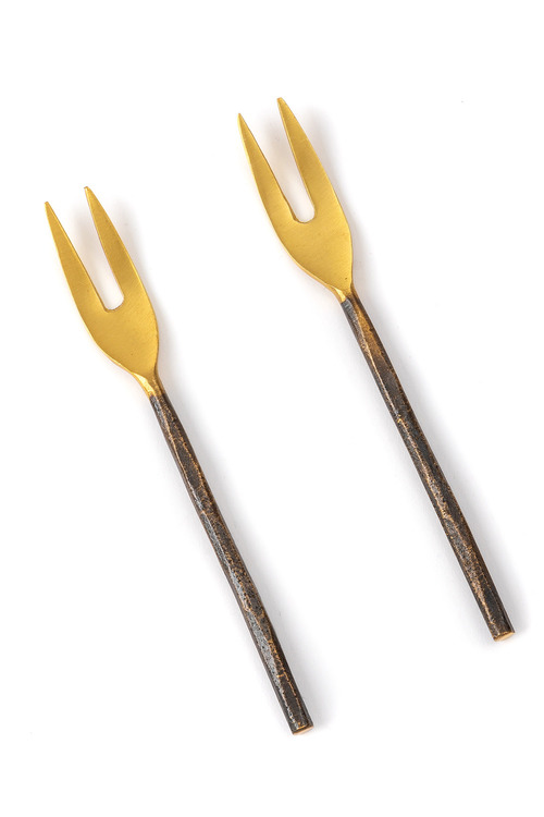 Burnished Pickle Fork Set of Two