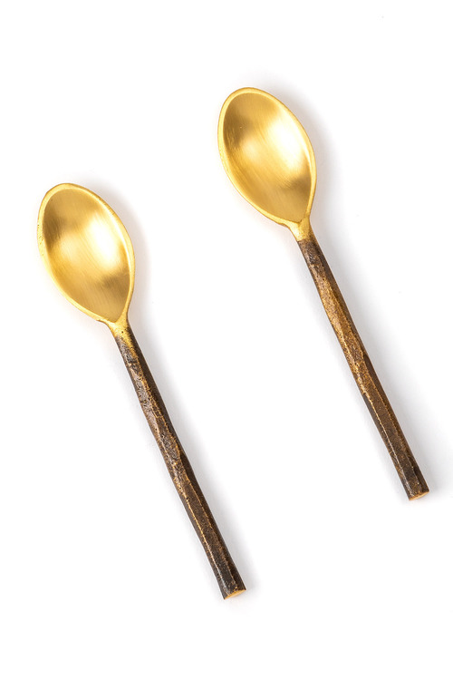 Burnished Teaspoon Set of Two