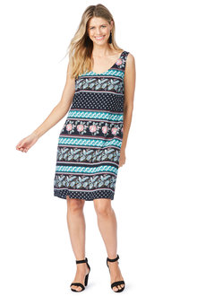 Rockmans Sleeveless Boho Print Dress