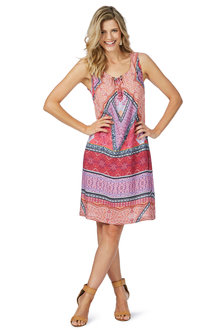 Rockmans Sleeveless Rhapsody Print Dress