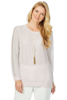 Noni B Frankie Metallic Knit Jumper