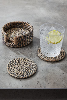 Rattan Coasters Set of Four - 200641