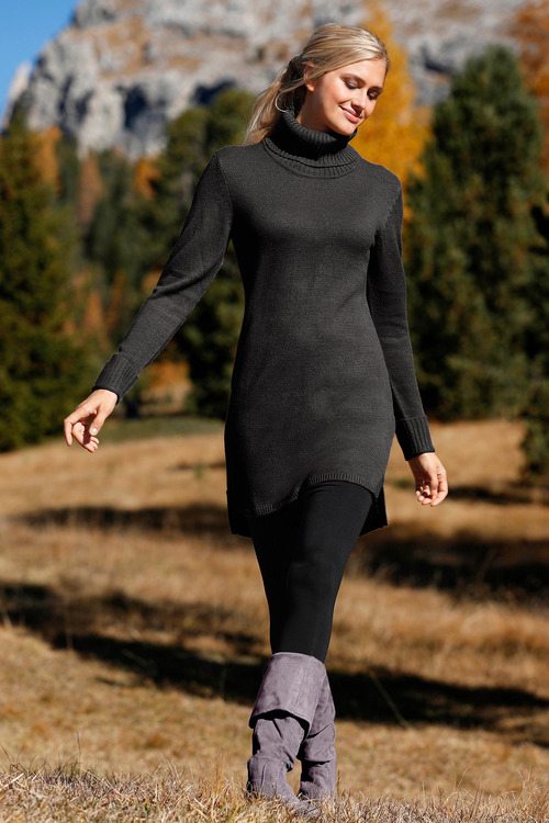 Capture Rib Roll Neck Tunic
