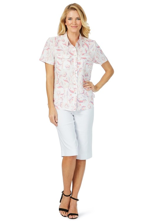 Noni B Allie Linen Shirt