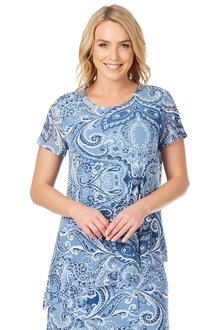 Noni B Laney Printed Top