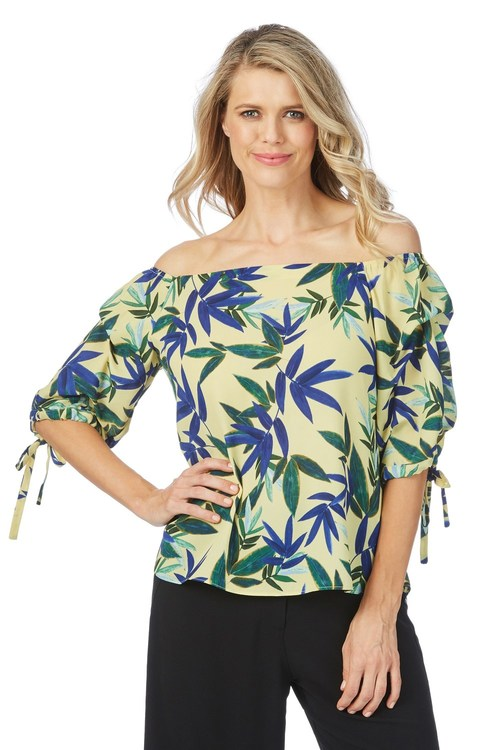 Table Eight Sandy Print Top