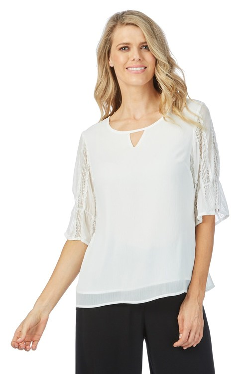Table Eight Krista Lace Top