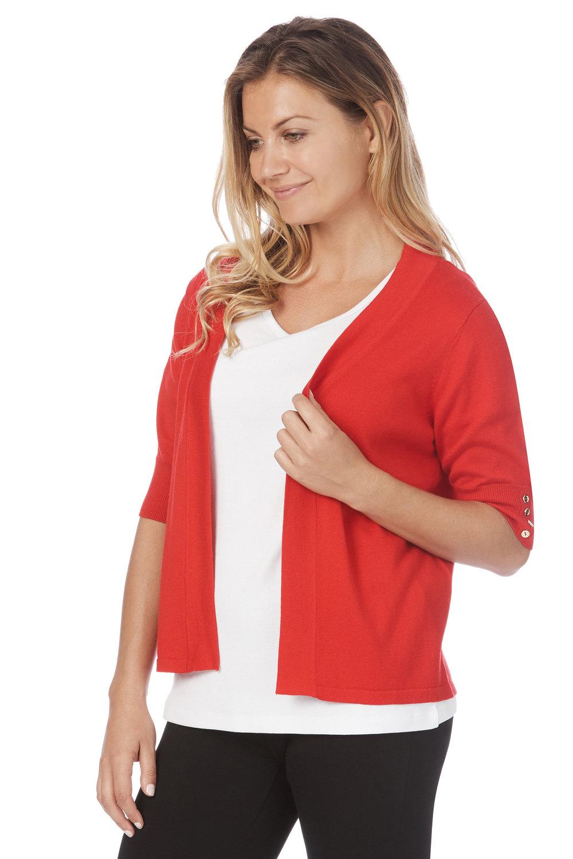 70456349682 Rockmans Elbow Sleeve Button Detail Cardigan Online