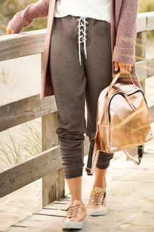 Urban High waist Lace up Jogger