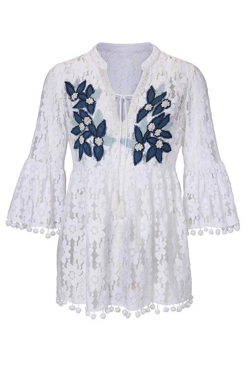 Heine Embellished Lace Blouse