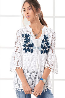 Heine Embellished Lace Blouse