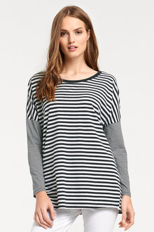 Heine Oversized Striped Top - 200786