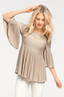 Heine Pleated Knit Top