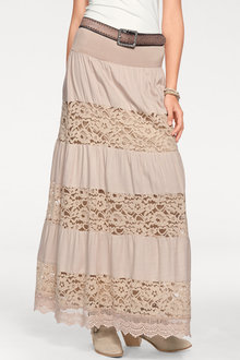 Heine Lace Patch Maxi Skirt - 200793