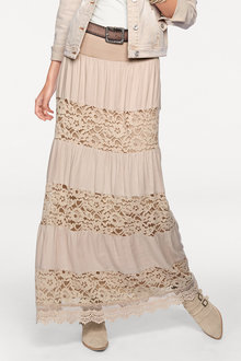 Heine Lace Patch Maxi Skirt