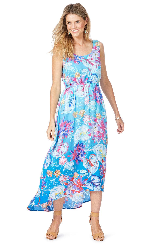 Floral Hi-Low Dress   KP FUSION